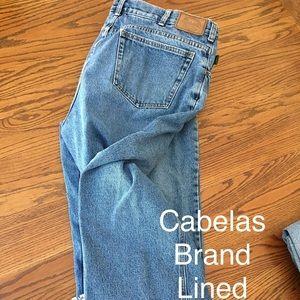 Men's Cabela's Brand lined jeans